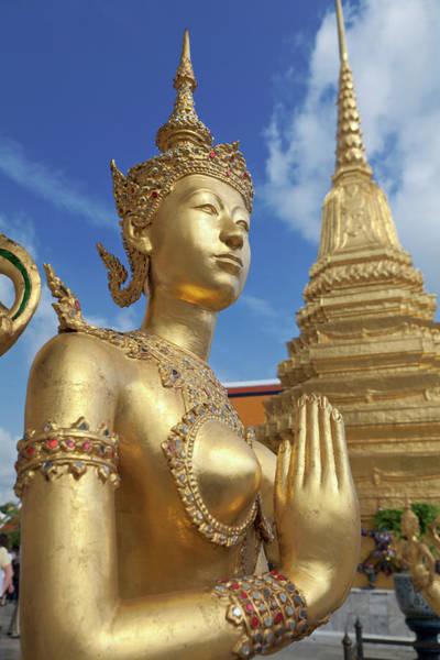 Thai Photograph - Statue Of Kinnari,royal Grand by Stefano Baldini