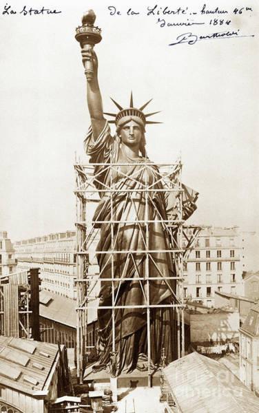 Wall Art - Photograph - Statue Of Liberty 1884 by Jon Neidert
