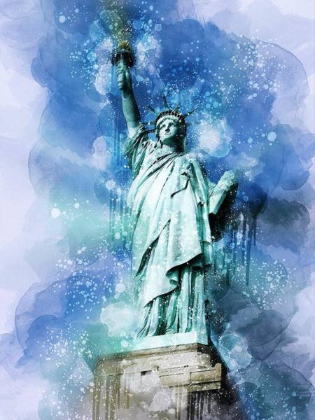 Wall Art - Painting - Statue Of Liberty by ArtMarketJapan