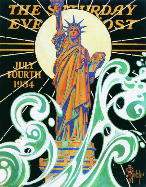 Wall Art - Painting - Statue Of Liberty - Digital Remastered Edition by Joseph Christian Leyendecker