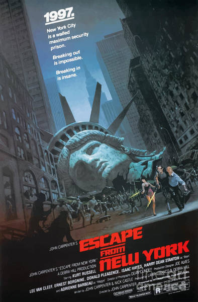 Mixed Media - Statue Of Liberty - Escape From New York 1981 by Kultur Arts Studios