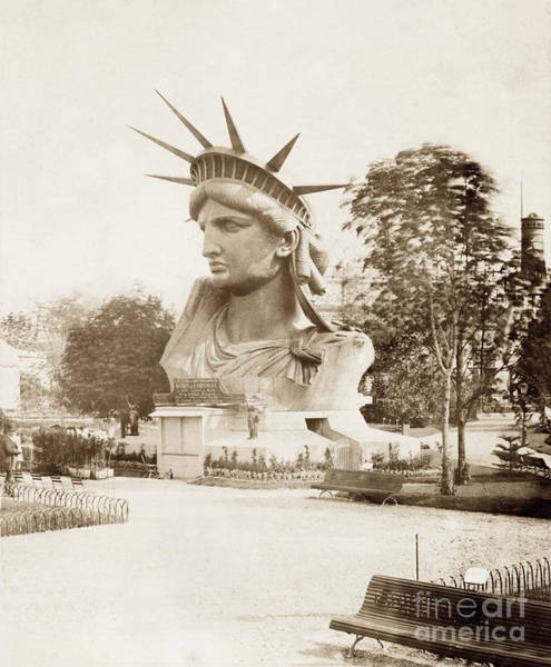 Wall Art - Photograph - Statue Of Liberty Head Circa 1882 by Jon Neidert