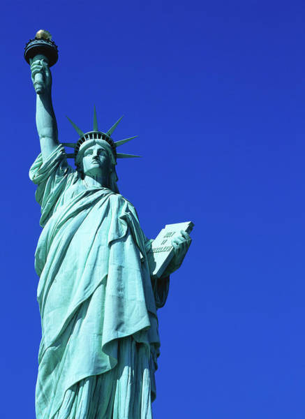 Statue Photograph - Statue Of Liberty, Lower Manhattan, Low by Neil Setchfield
