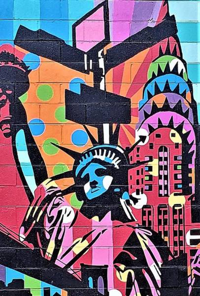 Photograph - Statue Of Liberty Mural by Rob Hans