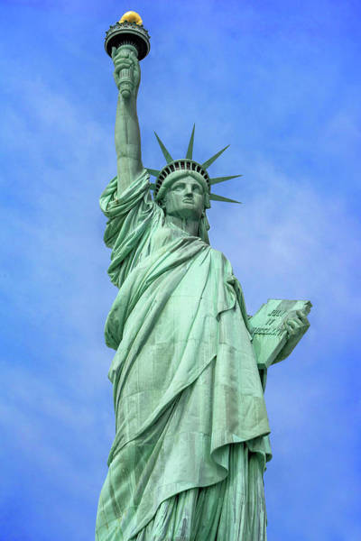 Wall Art - Photograph - Statue Of Liberty National Monument  by Hue Chee Kong