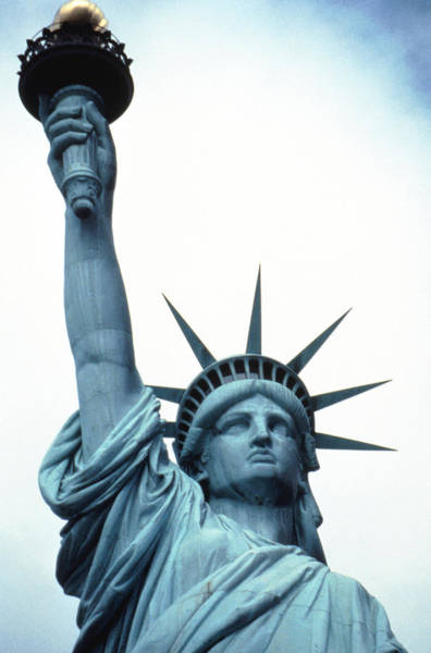 Statue Photograph - Statue Of Liberty, New York by John Foxx