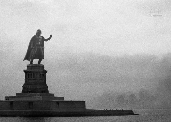Wall Art - Digital Art - Statue Of Liberty Vader by Andrea Gatti