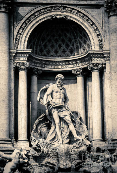 Photograph - Statue Of Ocean At The Trevi Fountain Rome by John Rizzuto