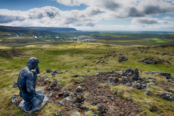 Photograph - Statue Overlooking Hveragerdi Iceland 6271901 by Rick Veldman