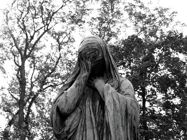 Photograph - Statue, Regret by Edward Lee