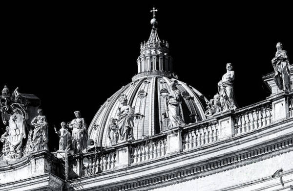 Photograph - Statues On Saint Peter's Basilica In Vatican City by John Rizzuto