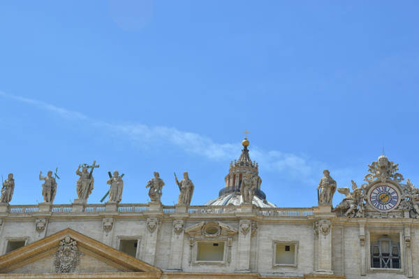 Photograph - Statues On The Facade by JAMART Photography