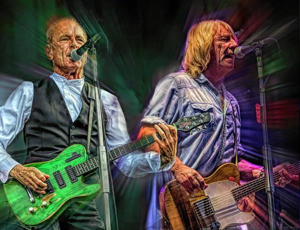 Hard Rock Mixed Media - Status Quo by Mal Bray