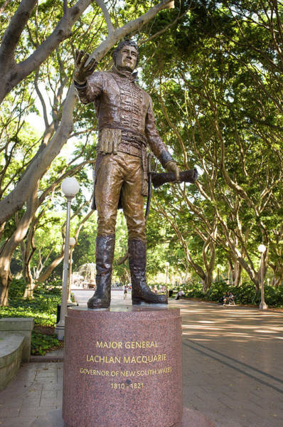 Wall Art - Photograph - Statute Of Major General Lachlan Macquarie by David L Moore