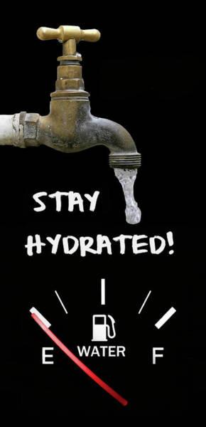 Wall Art - Digital Art - Stay Hydrated by Daniel Hagerman