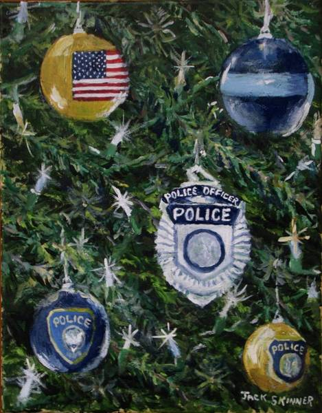 Wall Art - Painting - Stay Safe This Year by Jack Skinner