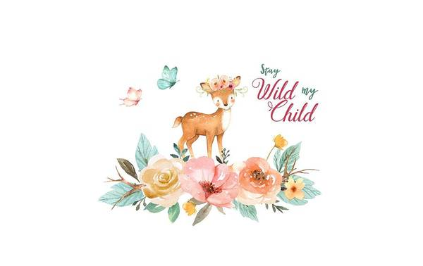 Photograph - Stay Wild My Child With Deer by Lynn Bauer