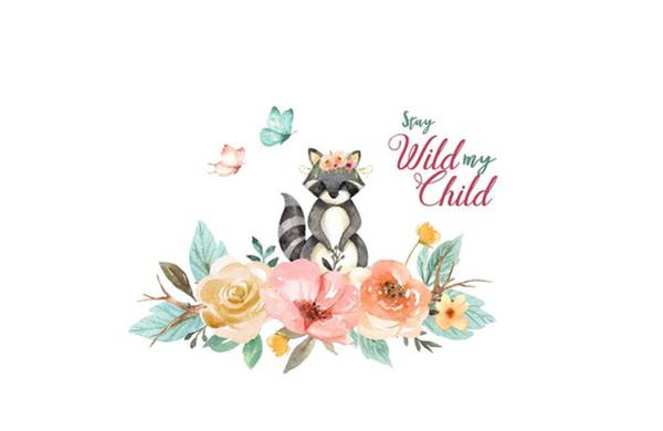 Photograph - Stay Wild My Child With Raccoon by Lynn Bauer