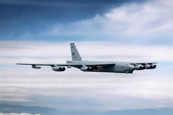 Wall Art - Digital Art - Staying Power B-52h by Peter Chilelli