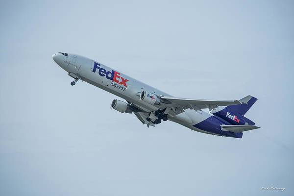 Photograph - Steady Takeoff Honolulu Fed Ex Airplane N529fe Art by Reid Callaway