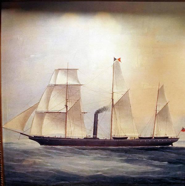 Photograph - Steam Assisted Sailing Ship by Steve Estvanik