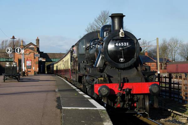 Photograph - Steam Loco 46521 by Steam Train