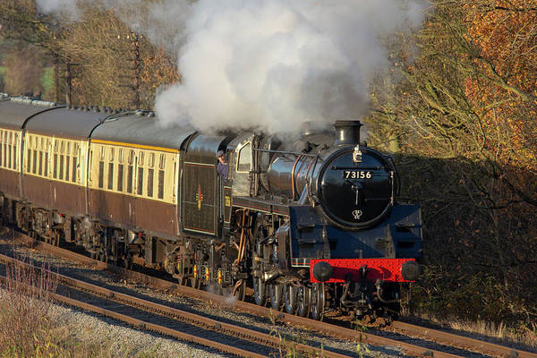 Photograph - Steam Locomotive 73156 Landscape by Steam Train