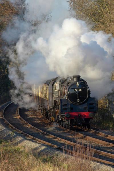 Photograph - Steam Locomotive 73156 Portrait by Steam Train