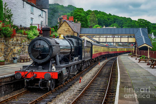 Wall Art - Photograph - Steam Locomotive Wales by Adrian Evans