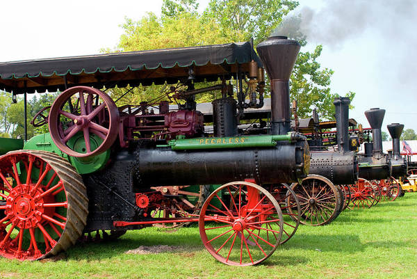 Photograph - Steam Tractor Line-up by Paul W Faust -  Impressions of Light
