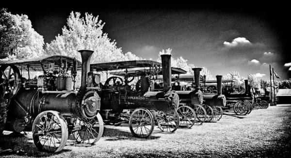 Wall Art - Photograph - Steam Tractors In  A Row by Paul W Faust - Impressions of Light