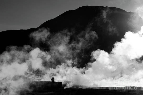 Photograph - Steaming Solitude El Tatio Geysers Chile by James Brunker