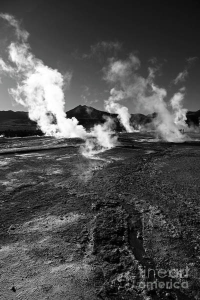 Photograph - Steaming Wilderness El Tatio Geysers Chile by James Brunker