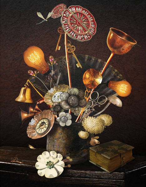 Digital Art - Steampunk Bouquet by Mariella Wassing
