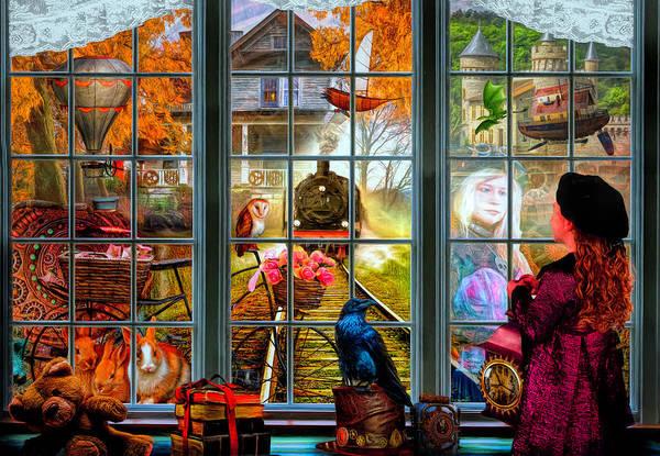 Dragon Boats Wall Art - Digital Art - Steampunk Dreams by Debra and Dave Vanderlaan