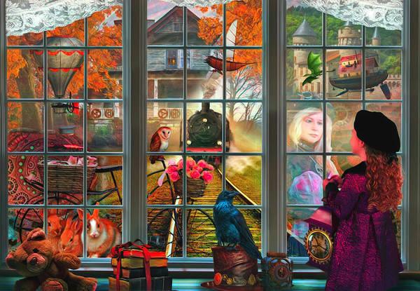 Digital Art - Steampunk Dreams Watercolor Painting by Debra and Dave Vanderlaan