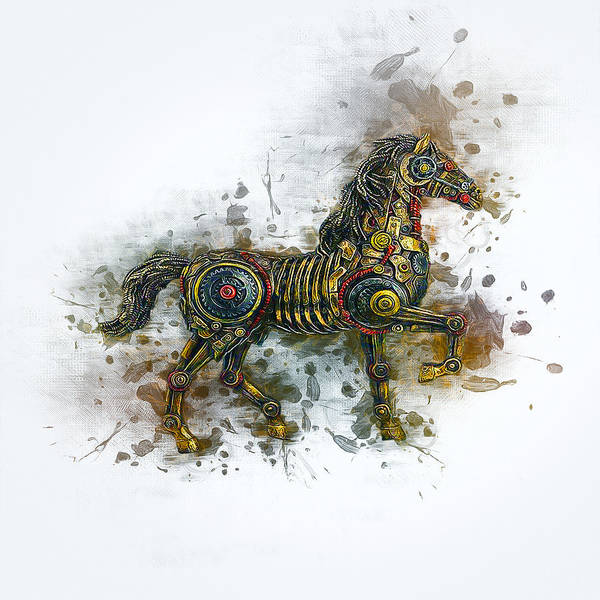 Digital Art - Steampunk Horse  by Ian Mitchell