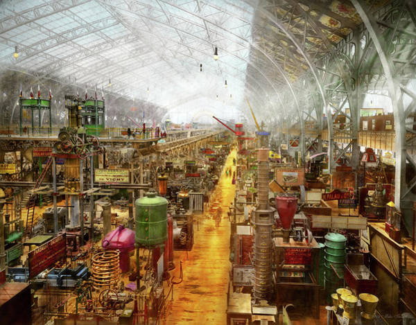 Photograph - Steampunk - The City Of Wonderment 1889 by Mike Savad