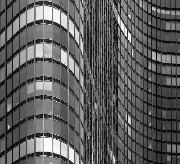 Photograph - Steel And Glass Curtain Wall by Photo By John Crouch