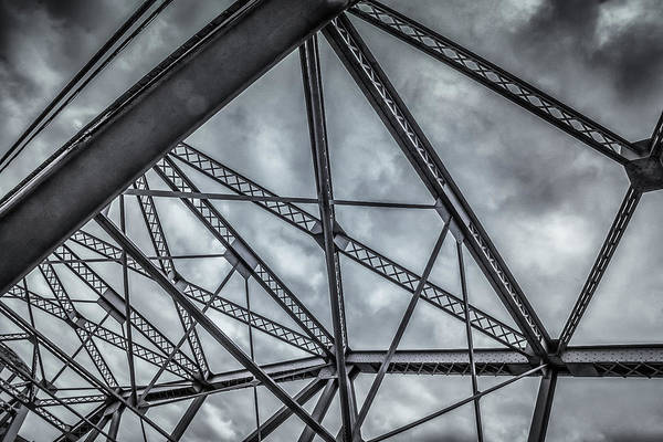 Photograph - Steel Bridge Abstract by Guy Whiteley