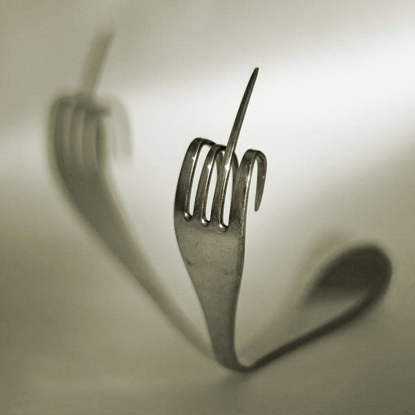 Silverware Photograph - Steel Fork by By Mediotuerto