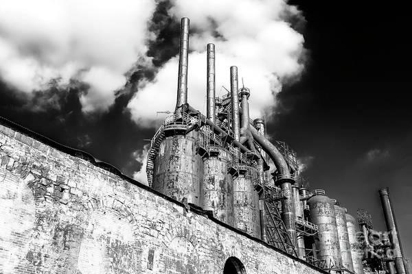 Photograph - Steel Mill Rising At Bethlehem Steel by John Rizzuto