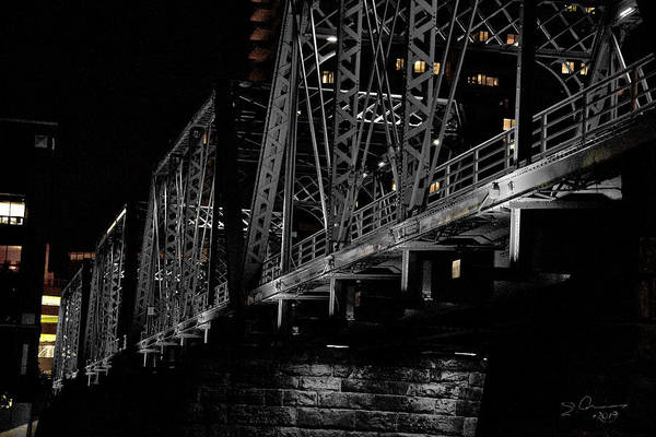 Photograph - Steel Of Blue Bridge Grand Rapids by Evie Carrier