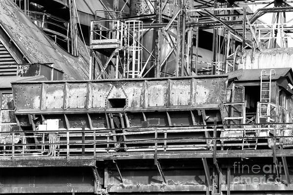 Photograph - Steel Work At Bethlehem Steel by John Rizzuto