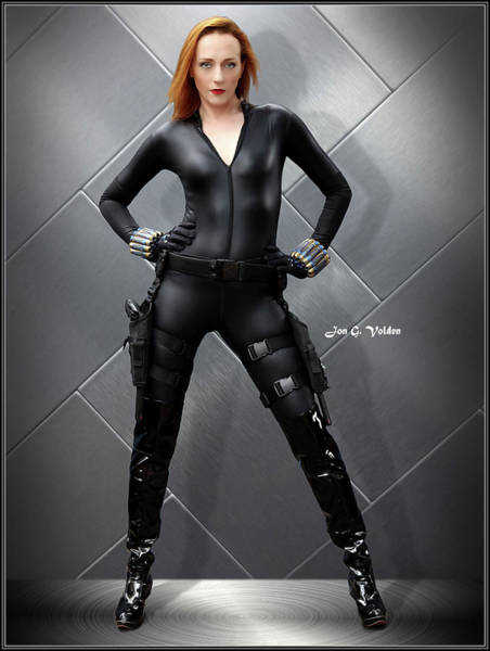 Photograph - Steely Black Widow by Jon Volden