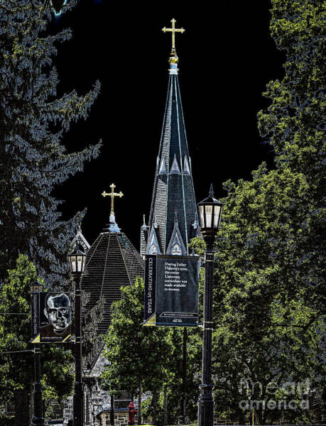 Photograph - Steeple At Night by William Norton