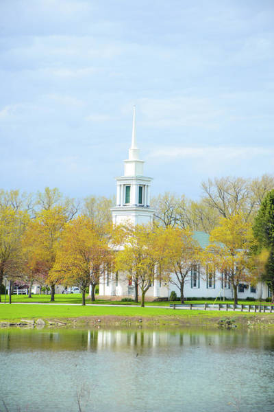 Wall Art - Photograph - Steeple In The Fall by Mary Timman