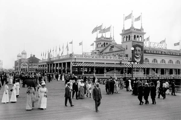 Wall Art - Photograph - Steeplechase Park - Coney Island C. 1905 by Daniel Hagerman