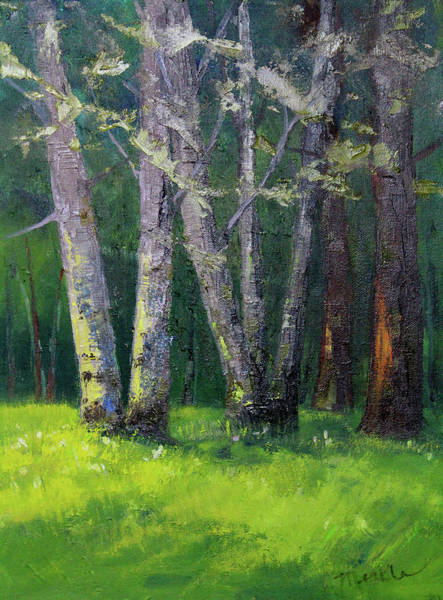 Painting - Steilacoom Forest by Nancy Merkle