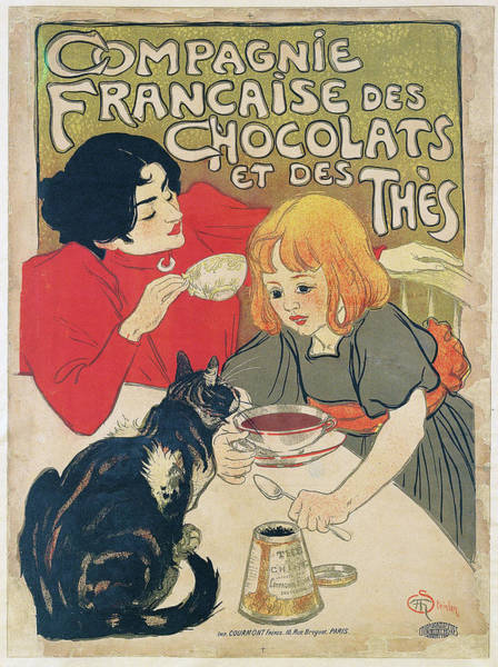 Francaise Painting - Steinlen  Theophile Alexandre  Compagnie Francaise Des Chocolats Et Des Thes 1895 by National Art Museum of Catalonia